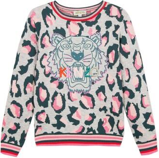 Kenzo Tiger Leopard Pattern Sweater