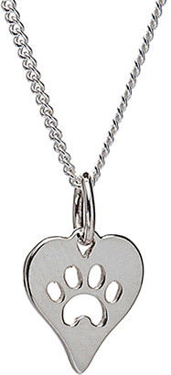AG Jeans Sterling Jewelry Women's Necklaces Silver - Sterling Silver Heart Paw Print Pendant Necklace