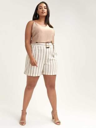 Linen Short with Self-Belt