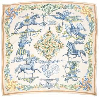 Hermes Carre Geant silk Ecru Silk Scarves