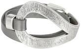 Saachi Style Style Women's Bracelets grey/silver - Dark Gray & Silvertone Leather Wrap Bracelet