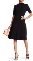 Alexia Admor Mock Neck Fit & Flare Dress