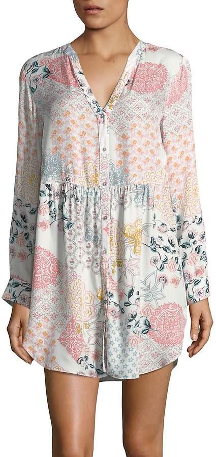 Josie Natori Women's Floral Sleep Shirt