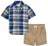 Ralph Lauren Madras Check Shirt and Chino Shorts Set