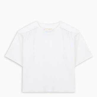 REMAIN Birger Christensen Padded shoulders crop t-shirt