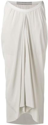 Rick Owens draped midi skirt