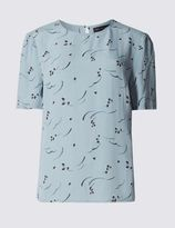 Marks and Spencer Printed Short Sleeve Shell Top