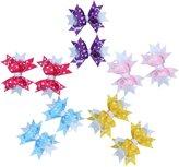 niceEshop(TM) Baby Girl Ribbon Bowknot Headbands Boutique Hair Bow Clips Set