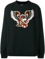Facetasm eagle patch sweatshirt - unisex - Cotton/Acrylic - One Size