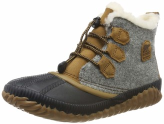 Sorel Girl's Boots Youth Out N About Plus Felt Grey (Quarry/Camel Brown) Size: UK Child 6