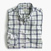 J.Crew Tall Secret Wash shirt in indigo check