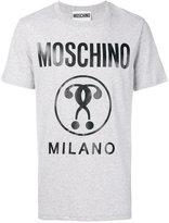 Moschino Milano signature T-shirt - men - Cotton - XS