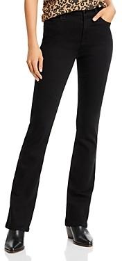 7 For All Mankind Jen7 by Slim Bootcut Jeans in Black Noir