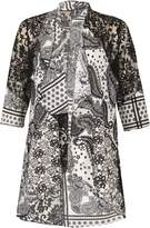 Izabel London Paisley Effect Loose Over Cardigan
