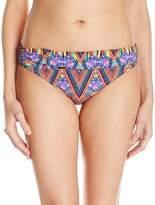 LaBlanca La Blanca Women's Color Me Happy Shirred Side Banded Hipster Bikini Bottom