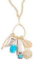 R.J. Graziano Goldtone Multi-Charm Pendant Necklace