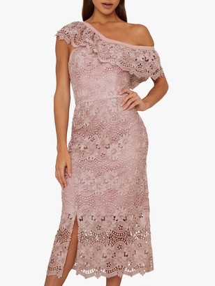 Chi Chi London Kellen Dress, Mink