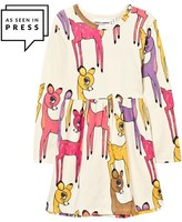 Mini Rodini Pink Deer Print Jersey Dress