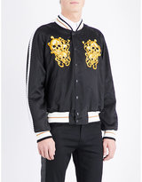 Alexander Mcqueen Skull-embroidered Shell Bomber Jacket