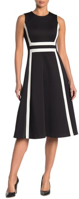 Calvin Klein Colorblock Woven Tank Dress