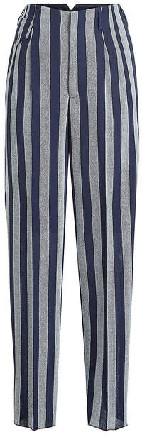 Golden Goose Sally Striped Fleece Wool Pants