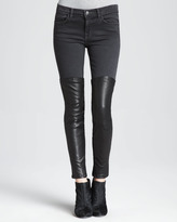 Jeans Minx Pistol Skinny Leather-Panel Jeans
