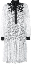 Antonio Marras floral lace shirt dress - women - Cotton/Polyamide/Polyester/Spandex/Elastane - 40
