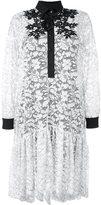 Antonio Marras floral lace shirt dress - women - Polyamide/Polyester/Spandex/Elastane/Cotton - 40