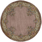 Momeni Open Field Hand-Carved Wool Round Rug