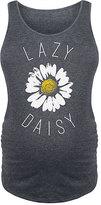 Heather Charcoal 'Lazy Daisy' Maternity Tank