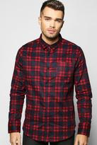 Boohoo Brushed Check Long Sleeve Shirt