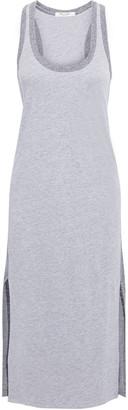 Rag & Bone Summer Two-tone Melange Linen-blend Jersey Midi Dress