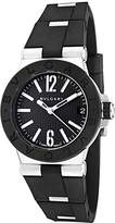 Bulgari Dg29bsvd Women's Diagono Rubber And Ss Textured Dial Watch
