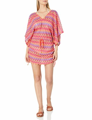 Luli Fama Women's Song of The Sea Cabana V-Neck Dress Cover up