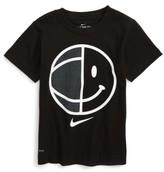 Nike Toddler Boy's Dry Smiley B-Ball Graphic T-Shirt