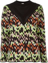 M Missoni chevron loose jumper - women - Cotton/Acrylic/Polyamide/Wool - 42