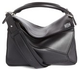 Loewe 'Small Puzzle' Calfskin Leather Bag - Black