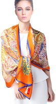 Forever Angel-Scarves Forever Angel Women's 100% Luxurious Silk Charmeuse Long Scarf