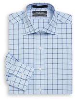 Saks Fifth Avenue Classic-Fit Windowpane Check Cotton Dress Shirt