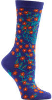 Ozone Women's Turkish Flower Crew Socks (2 Pairs)