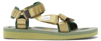 Suicoke Depa-v2 Velcro-strap Sandals - Dark Green