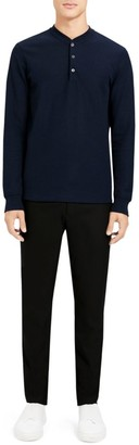 Theory Classic Henley Organic Cotton Long-Sleeve