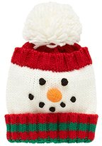 Mothercare Baby-Unisex Festive Snowman/Red/130 Hats, Red, One Size (Manufacturer Size:130)