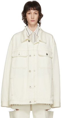 Maison Margiela Off-White Denim Boxy Jacket