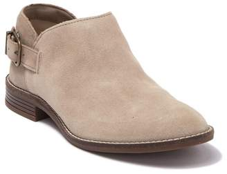 Clarks Camzin Buckle Strap Ankle Suede Bootie