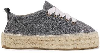 Manebi Hamptons Lurex Platform Espadrille Sneakers