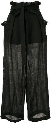 Shanshan Ruan High-Waist Trousers