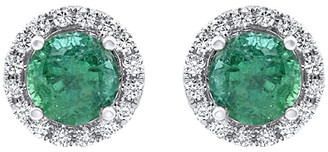 Diana M Fine Jewelry 14K 4.18 Ct. Tw. Diamond & Emerald Studs