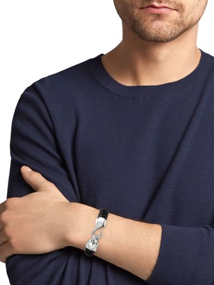 Effy Sterling Silver, Leather & Onyx Bracelet
