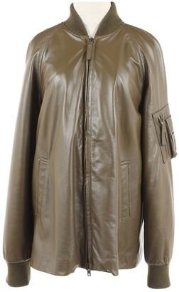 Maison Margiela Khaki Leather Jackets